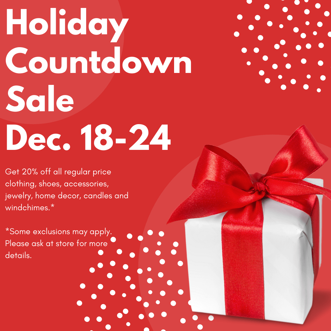 holiday countdown sale