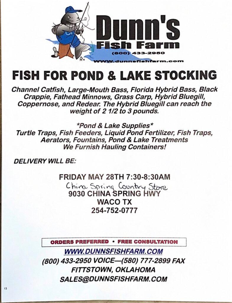 fish truck pond stocking pond fish