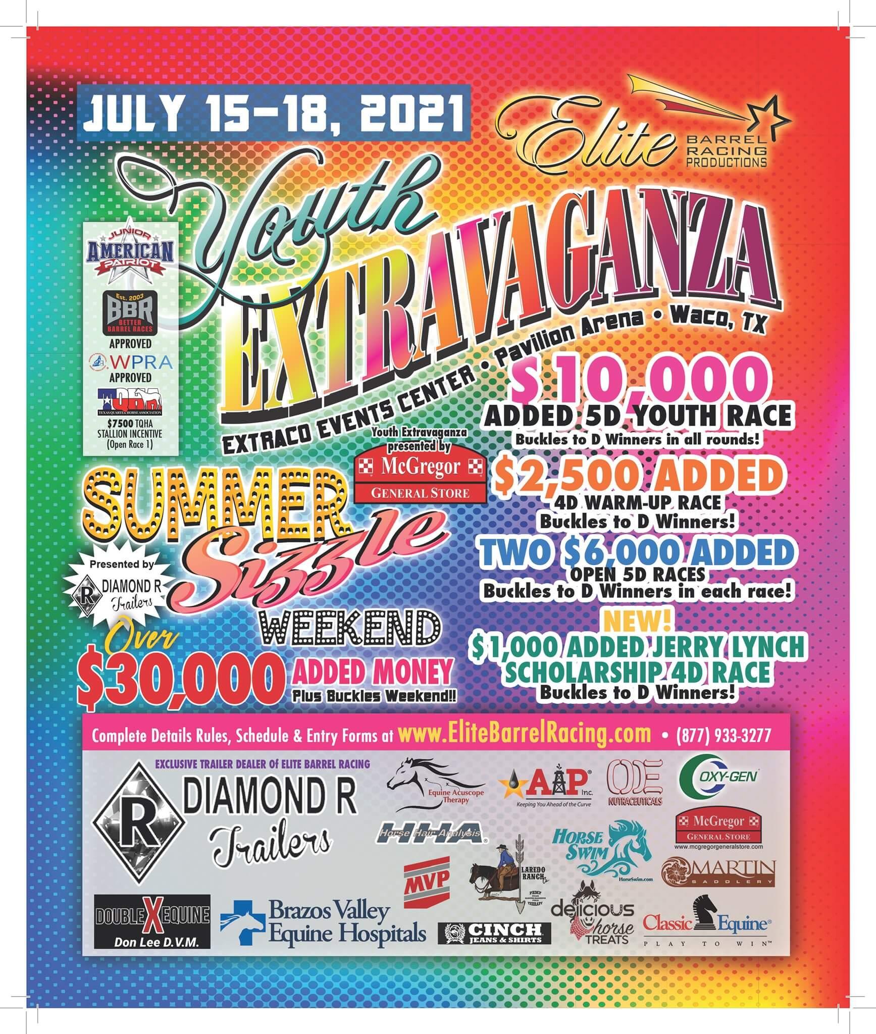 elite barrel racing summer sizzle extravaganza waco