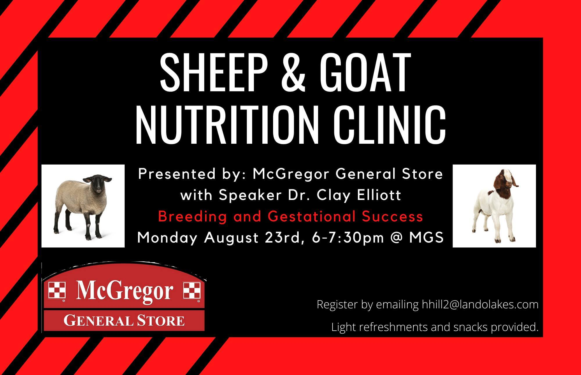 sheep goat nutrition clinic clay elliott purina animal nutrition